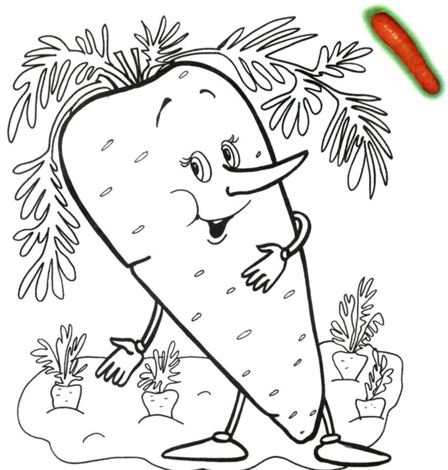 Раскраски овощей для детей распечатать