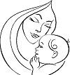 Madre-e-hijo-colorear