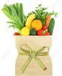 18422378-Fresh-vegetables-and-fruits-in-a-paper-grocery-bag-with-measuring-tape--Stock-Photo